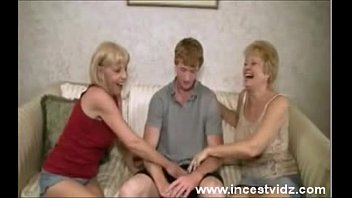 Two old moms helps young boy