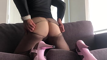 """Crossdressing Beauty Couch Fucking Dildo in Pantyhose <span class=""""duration"""">4 min</span>"""