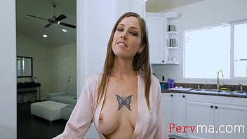 Son Tries To Help Mom But The Nip Slip Is Distracting- Tricia Oaks