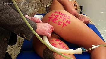 Chloe colon snake enema depth test part 1