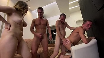 3 guys for 2 girls - it was very hot