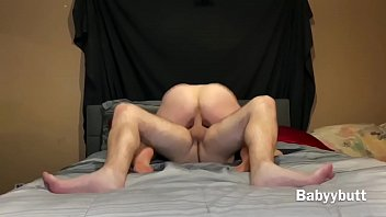 Babyybutt gets throat fucked and rides a huge dick cums in throat perfect view of her ass and pussy
