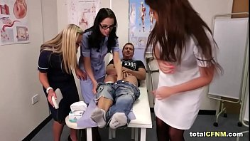 Patient gets sucked by hot CFNM nurses