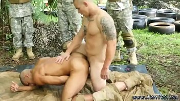 Naked military men in showers gay Jungle boink fest