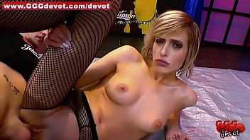 Ria Fucks in Fishnets and Showers in Streams of Pee Trailer