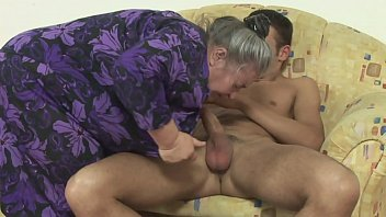 Dirty obese grandma fucked by young hunk
