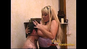 Horny stud enjoys having some kinky fun with a busty blonde looker