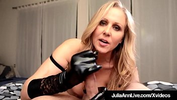 Julia crown pov masturbation video Major hot milf julia ann wears sexy gloves to do a handjob