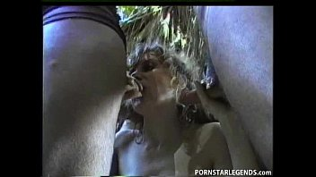 Busty Whore Gets Anal Gangbang Outdoors