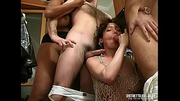 Two very slutty shemales get buggered by two representatives of adult toys