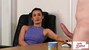 CFNM office beauty humiliating sub employee