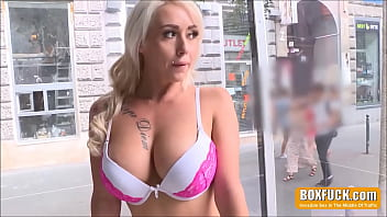 Huge Tits Teen Persuaded To Fuck In Busy High Street Traffic