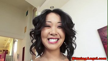 Glamcore asian deepthroating stiff dick