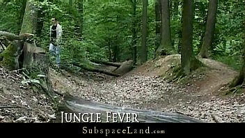 Claudie tied-up in the forest and fucked 6 min