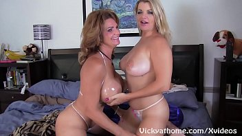 Busty MILFS Vicky Vette and Deauxma Get Off!