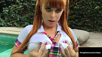Ginger Bush Beauty, Penny Pax, won't be graduating this year if she keeps finger fucking her sweet wet pussy all the time! Hot schoolgirl outdoor clip! Full Video & Penny Live @ PennyPaxLive.com!