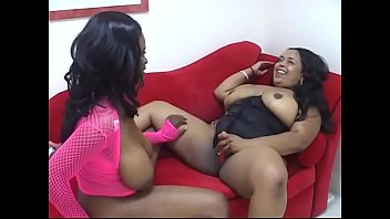 Black couples masturbation Couple of black overblown beauties taste their finger skills, muff diving and new dildo