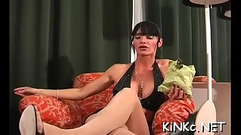 Femdom and video and free Serf fastened up and jerked off