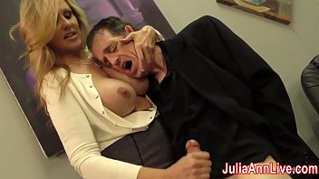 Handjob video mature Sexy milf julia ann milks him on date night