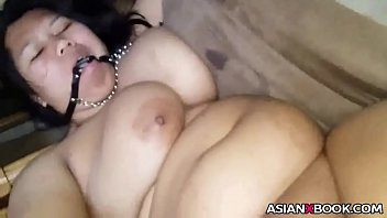 Busty asian sub gets pussy toyed