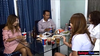 Group orgy with a bunch of amateur Thai girls who just loved fucking
