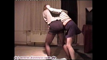 Miniskirt and Pantyhose Catfight Doris vs Mareike 1
