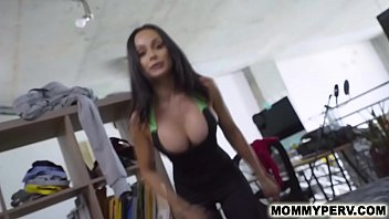 Foreign step mom and son work out & sex