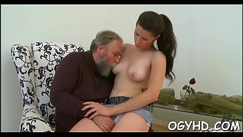 Young active gal blows old 10-pounder