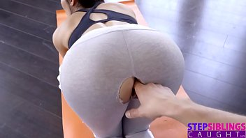 StepSiblingsCaught- Step Sisters Ripped Yoga Pants S8:E5