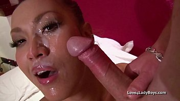 Hard and fast anal fuck for an Asian ladyboy