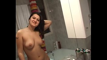 I catch her in the shower and she gets very dirty