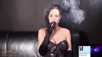 Leather smoking fetish video