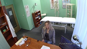 Dick cheney hospitalized 2-22-10 - Natural blonde patient fucks doctor in his office