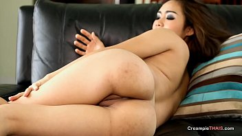 Thai babe fucked in both holes and creampied