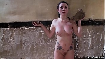 Slave is whipped and anal fucked