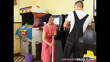 Muscle stud porn - Muscle guy fucks ugly granny