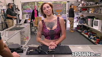 Busty babe fucked and filmed by voyeur pawn broker