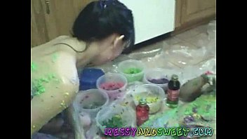 colorful messy amateur girls