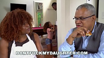 DON'T FUCK MY DAUGHTER - Black Teen Kendall Woods Fucks Her Father's Friend, Jax Slayher Thumb