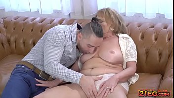 Sexy granny with big boobs enjoying hardcore sex