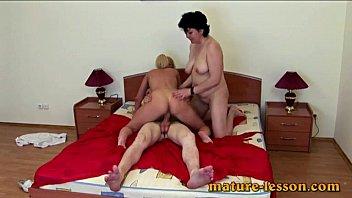Blonde takes ass fuck lesson
