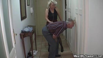 Guy caught gf fucking with his mother and old dad