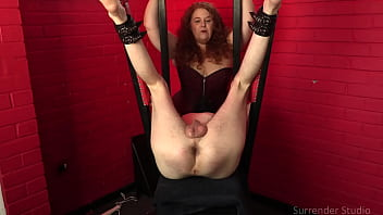 MsREDStripe And Lady Dalia Continue Their Delightful CBT Session With Slave