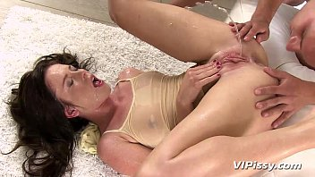 Golden shower cartoons - Horny hottie showers in her mans fresh urine
