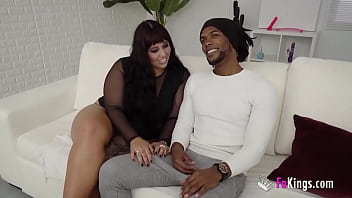 BBW Vicky is starved for sex! She devours a big black cock