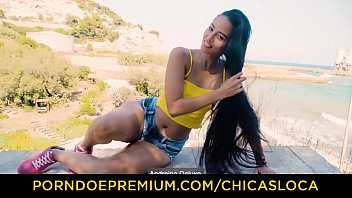 CHICAS LOCA - Playful Latina Andreina De Luxe has real orgasms in poolside fuck