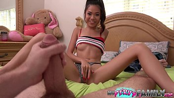 Asian family murder Daddy caught petite asian teen fucking her stepbrother