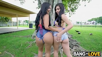 Julz Gotti and Alina Belle Big Booty 3some By The Pool