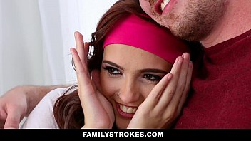 FamilyStrokes - Teen (Brooke Haze) Fucks Stepbrother Almost Caught By Stedad