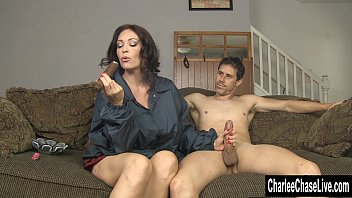 Sexy woman smoking cigar - Cigar sucking fake tit milf charlee chase